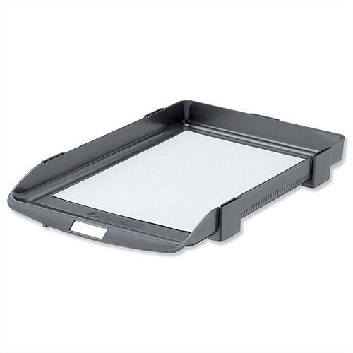 Rexel Agenda Classic 35 Letter Tray Stackable Charcoal