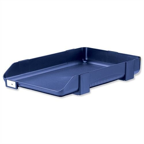 Rexel Agenda Classic 55 Letter Tray Stackable Blue