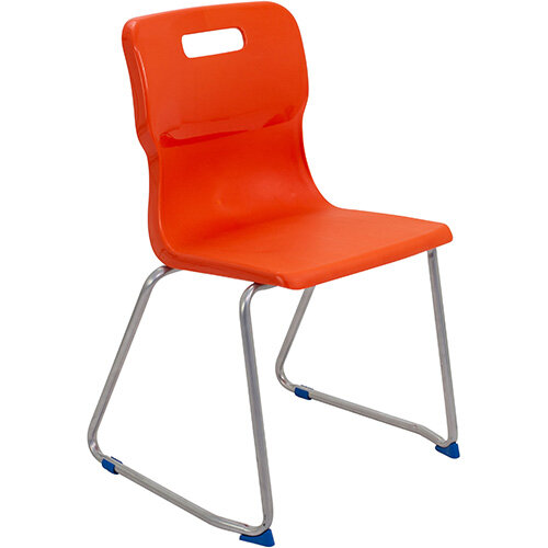 Titan Skid Base Classroom Chair Size 6 460mm Seat Height (Ages: 14+ Years) Orange T26-O - 5 Year Guarantee