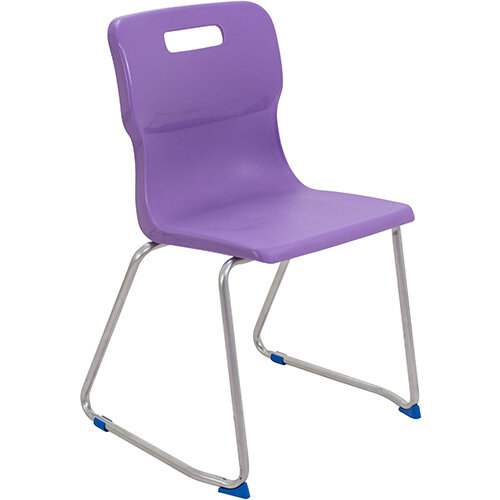 Titan Skid Base Classroom Chair Size 6 460mm Seat Height (Ages: 14+ Years) Purple T26-P - 5 Year Guarantee
