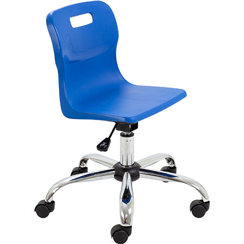 Titan Swivel Junior Classroom Chair with Castors 365-435mm Seat Height (Ages: 6-11 Years) Blue T30-B - 5 Year Guarantee