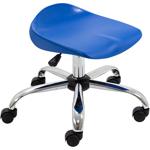 Titan Swivel Junior Classroom Stool with Castors 405-475mm Seat Height (Ages: 6-11 Years) Blue T32-B - 5 Year Guarantee