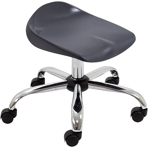 Titan Swivel Junior Classroom Stool with Castors 405-475mm Seat Height (Ages: 6-11 Years) Charcoal T32-C - 5 Year Guarantee