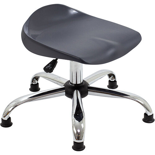 Titan Swivel Junior Classroom Stool with Glides 405-475mm Seat Height (Ages: 6-11 Years) Charcoal T32-CG - 5 Year Guarantee