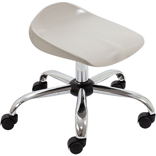 Titan Swivel Junior Classroom Stool with Castors 405-475mm Seat Height (Ages: 6-11 Years) Grey T32-GR - 5 Year Guarantee