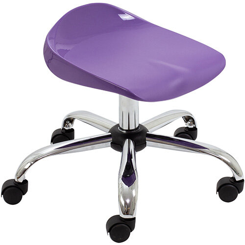 Titan Swivel Junior Classroom Stool with Castors 405-475mm Seat Height (Ages: 6-11 Years) Purple T32-P - 5 Year Guarantee