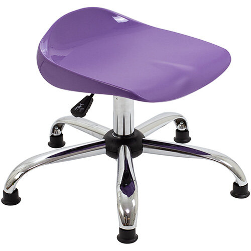 Titan Swivel Junior Classroom Stool with Glides 405-475mm Seat Height (Ages: 6-11 Years) Purple T32-PG - 5 Year Guarantee