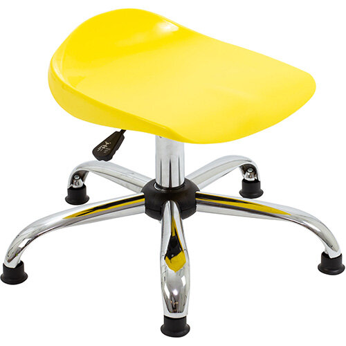 Titan Swivel Junior Classroom Stool with Glides 405-475mm Seat Height (Ages: 6-11 Years) Yellow T32-YG - 5 Year Guarantee
