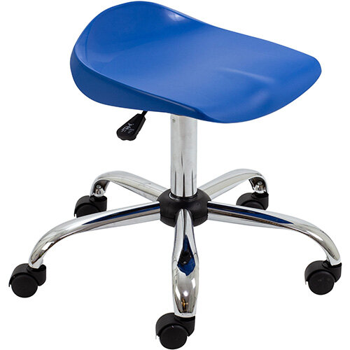 Titan Swivel Senior Classroom Stool with Castors 465-555mm Seat Height (Ages: 11+ Years) Blue T33-B - 5 Year Guarantee