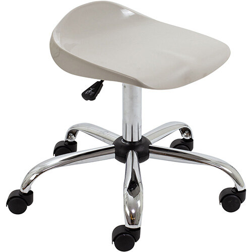 Titan Swivel Senior Classroom Stool with Castors 465-555mm Seat Height (Ages: 11+ Years) Grey T33-GR - 5 Year Guarantee