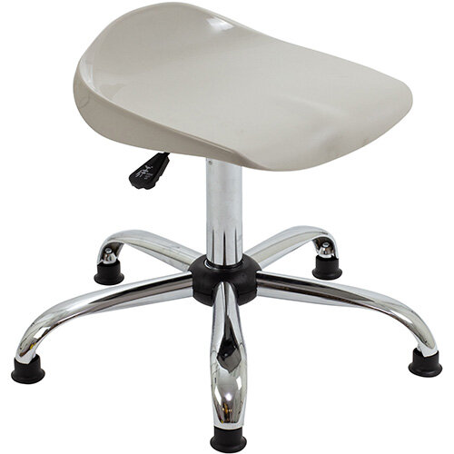 Titan Swivel Senior Classroom Stool with Glides 465-555mm Seat Height (Ages: 11+ Years) Grey T33-GRG - 5 Year Guarantee
