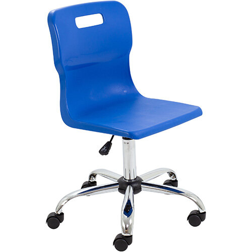 Titan Swivel Senior Classroom Chair with Castors 435-525mm Seat Height (Ages: 11+ Years) Blue T35-B - 5 Year Guarantee