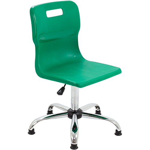 Titan Swivel Senior Classroom Chair with Glides 435-525mm Seat Height (Ages: 11+ Years) Green T35-GNG - 5 Year Guarantee