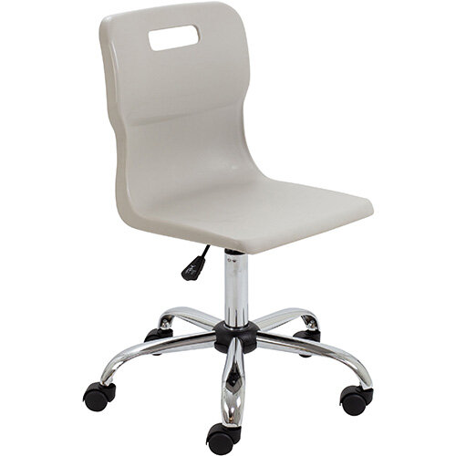 Titan Swivel Senior Classroom Chair with Castors 435-525mm Seat Height (Ages: 11+ Years) Grey T35-GR - 5 Year Guarantee