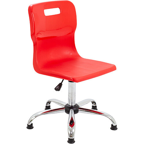 Titan Swivel Senior Classroom Chair with Glides 435-525mm Seat Height (Ages: 11+ Years) Red T35-RG - 5 Year Guarantee