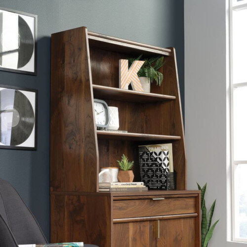 Clifton Place Hutch Shelving Unit For Lateral Filing Cupboard or Storage Sideboard Grand Walnut Finish