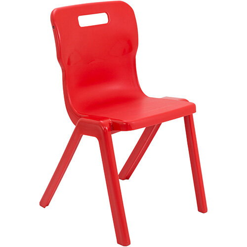 Titan One Piece Classroom Chair Size 6 460mm Seat Height (Ages: 14+ Years) Red T6-R - 20 Year Guarantee
