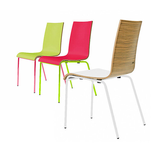 Frovi ZERO 3-TONE Canteen Chair With 4 Leg Painted Base H850xW450xD510mm 450mm Seat Height
