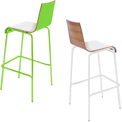 Frovi ZERO 3-TONE Canteen Stool With 4 Leg Painted Base H1050xW530xD470mm 780mm Seat Height