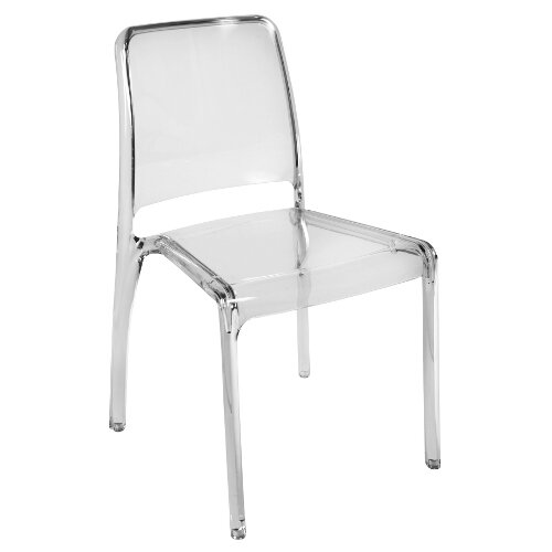 Clarity Translucent Polycarbonate Chair In Transparent Pack of 4