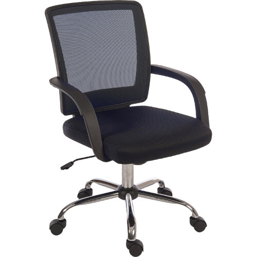Star Mesh Back Office Chair With Black Fabric Seat And Black Mesh Backrest