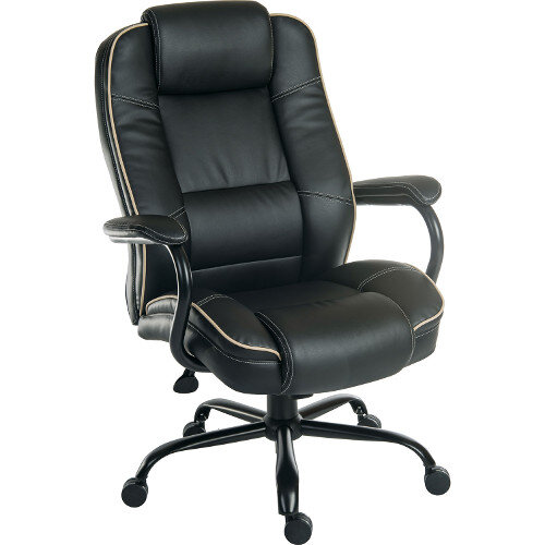 Goliath Duo Heavy Duty Bonded Leather Faced Executive Office Chair In Black