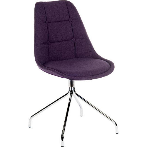 Breakout Conference Chair With Fixed Chrome Legs In Plum Pack of 2