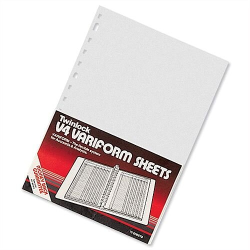 Twinlock V4 Variform 5 Column Cash Sheets Ref 75931 Pack 75 T75931