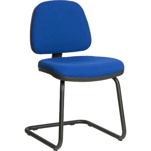 Ergo Visitor Fabric Cantilever Chair In Blue