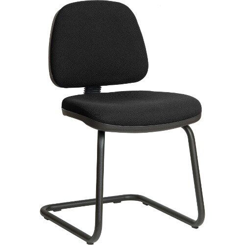 Ergo Visitor Fabric Cantilever Chair In Black
