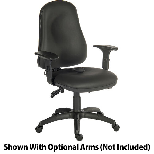 Ergo Comfort Ergonomic Posture Office Chair With Pump Up Lumbar Support In Pu Black Fabric