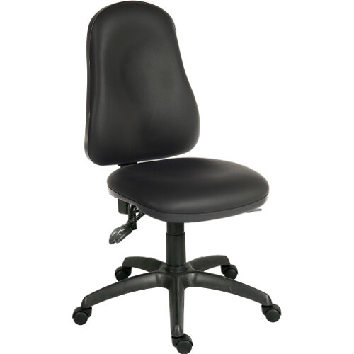 Ergo Comfort Ergonomic Posture Office Chair With 4 Lever Aysnchronous Mechanism In Pu Black Fabric