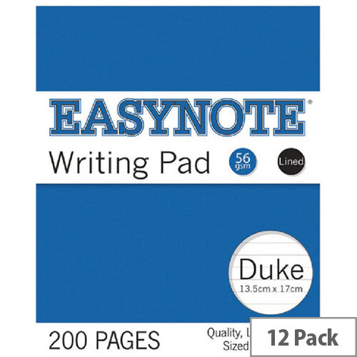 Tallon 200 Pages Lined Duke Pad Pack of 12 3254/72