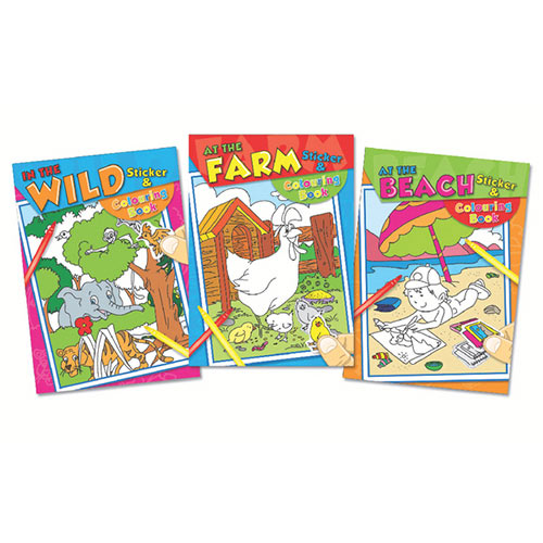 Tallon Colouring And Sticker Book Pack of 12 4042