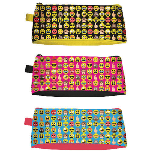 Tallon Funny Faces Pencil Case Pack of 12 6806/48