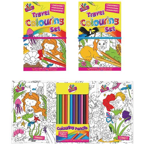 Tallon Children's Travel Colouring Set Pack of 6 6839