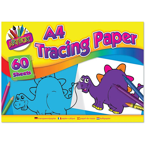 Art Box Tracing Paper Pad A4 60 Sheets Pack of 12 TAL05069