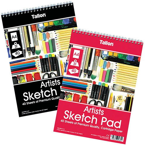 Tallon Artist Sketch Pad 40 Sheet A4 Pack of 6 TAL05682