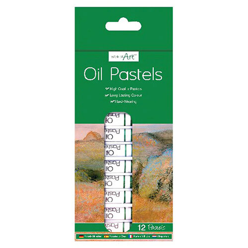 Work of Art High-Quality Oil Pastels Pack of 12 TAL06364