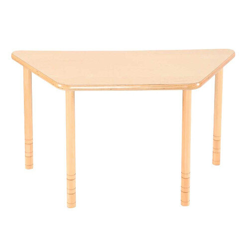 Flexi Trapezial Height Adjustable Table 48-58cm Beech Finish
