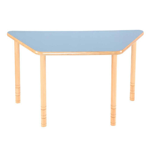 Flexi Trapezial Height Adjustable Table 64-76cm Blue Top