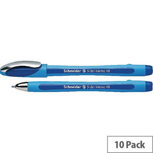 Schneider Slider Memo Ballpoint Pen XB Blue Pack 10 150203