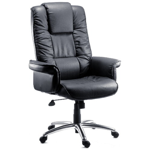 Lombard Bonded Leather Executive Office Armchair In Black
