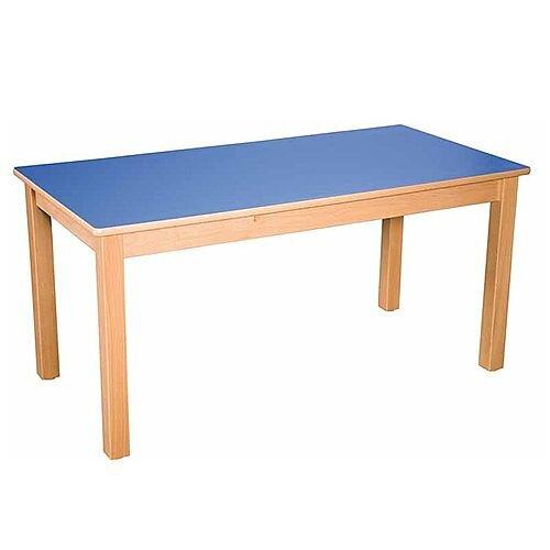 Rectangular Primary School Table Beech Blue 120x60cm 59cm High TC05901