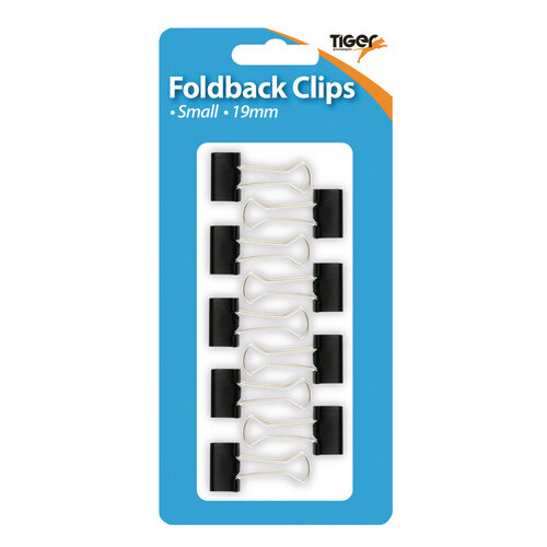Tiger Small Fold Back Clips Pack of 108 302004
