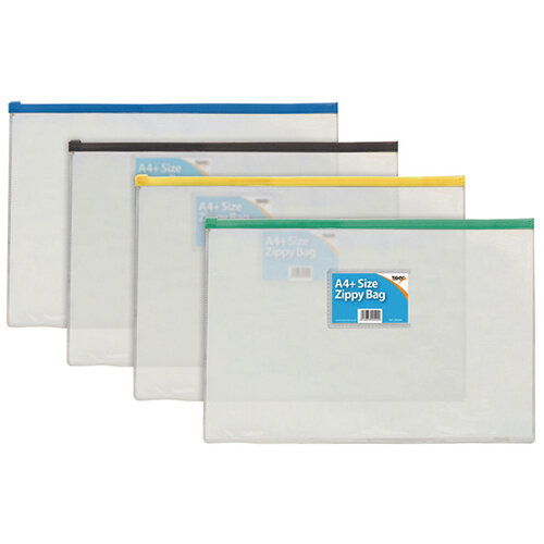 Sundry A4 Zip Bag Pack of 12 300500