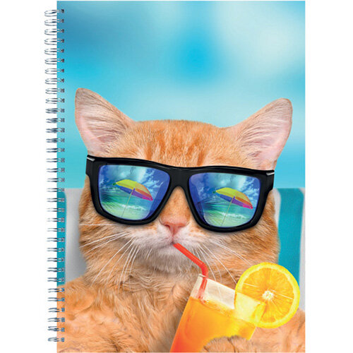 Cats and Dogs Twinwire Notepads A4 Pack of 5 302366