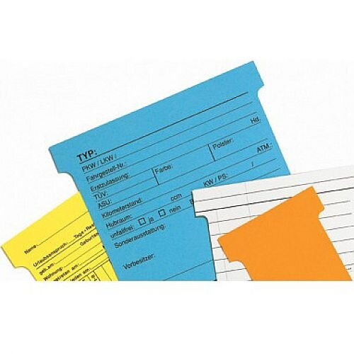 Franken T-Card Size 3 Orange Pack of 100 TK305