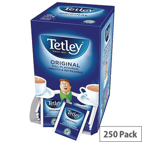 Tetley Tea Bags Tagged in Envelope High Quality Pack 250