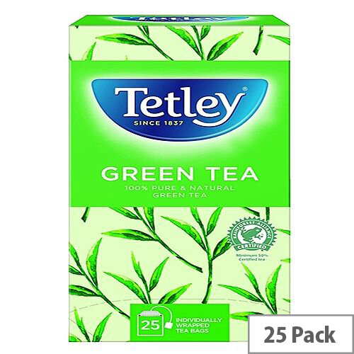 Tetley Pure Green Tea Bags Pack of 25 1575A